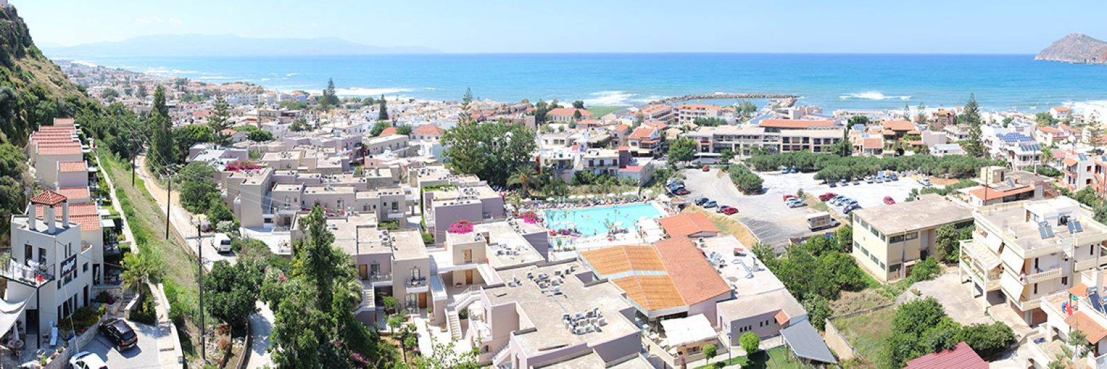 Pelagos Holidays Apartments over Platanias with view on Agioi Theodoroi Island
