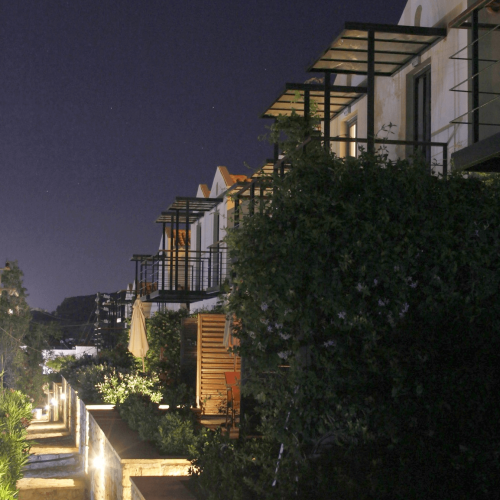 Pelagos Holidays Apartments at Night