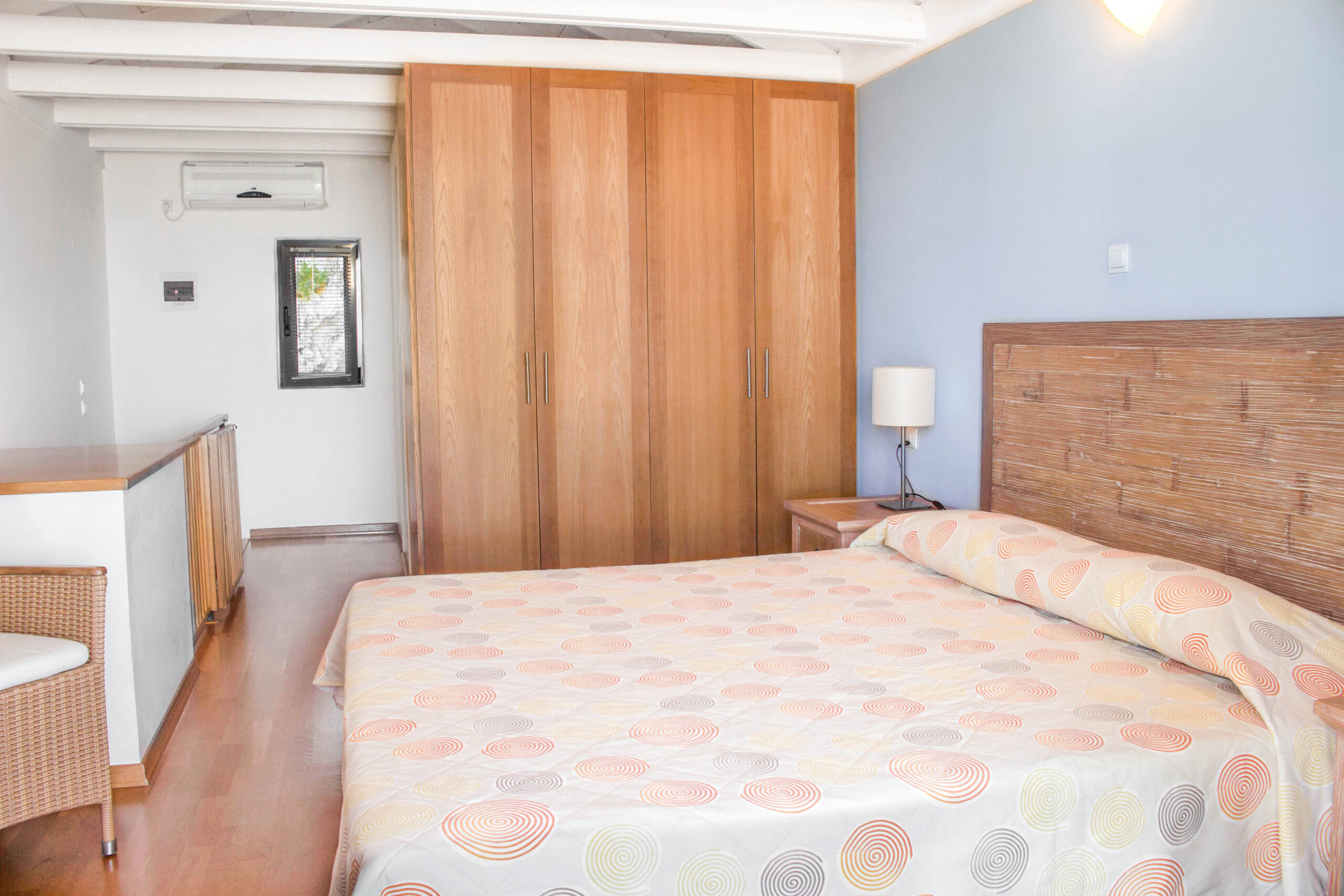 Comfortable Apartment Bedroom of Pelagos Holidays Apartments