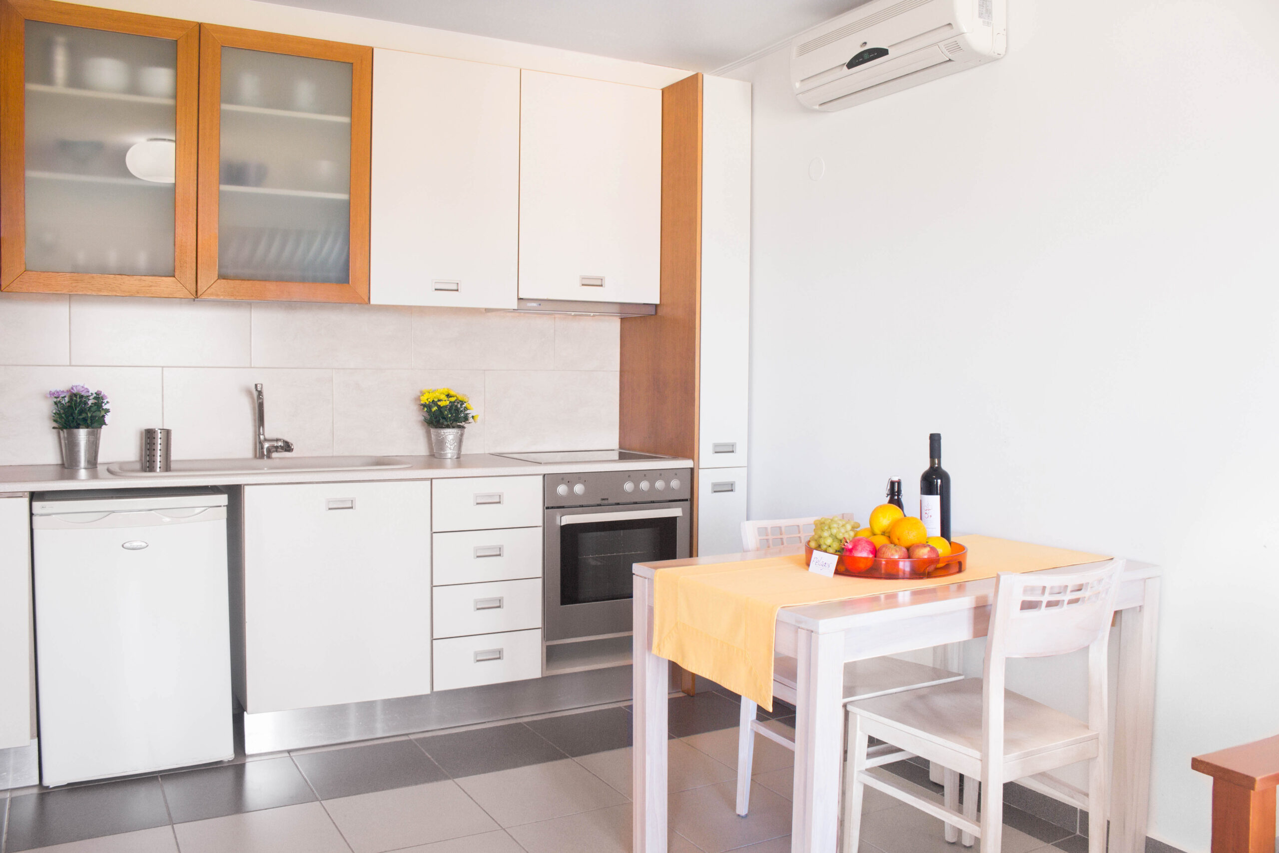Comfortable Apartment Kitchen of Pelagos Holidays Apartments