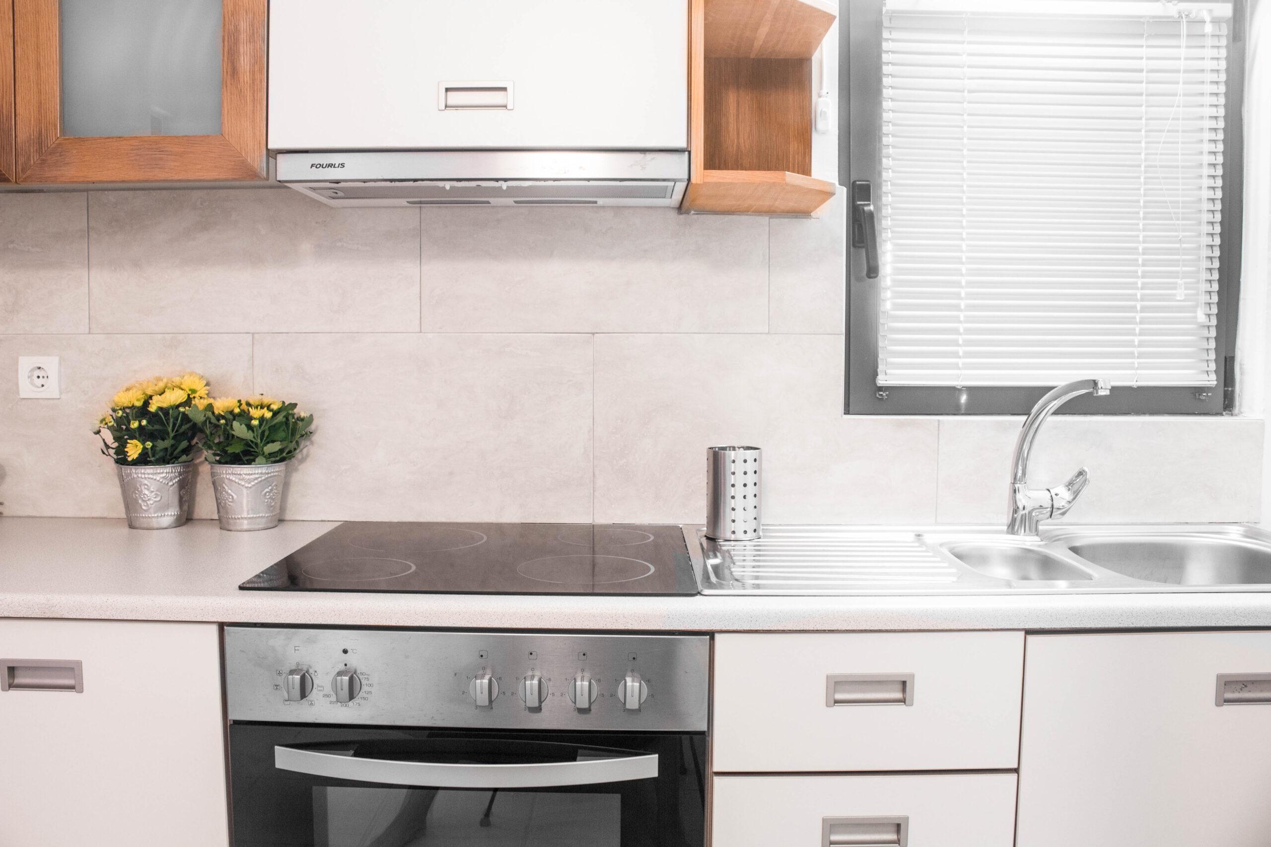 Cosy Apartment Kitchen of Pelagos Holidays Apartments