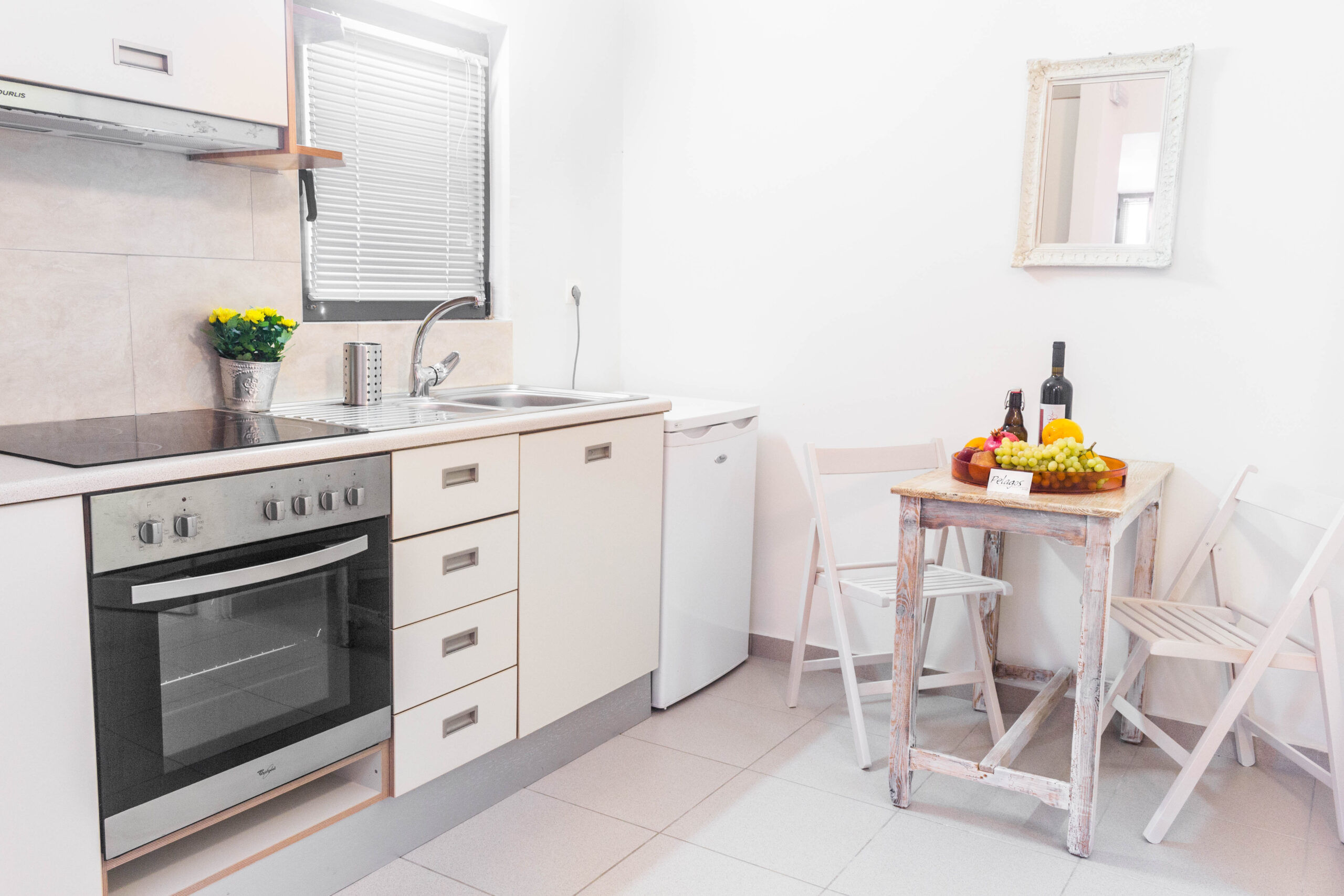 Cosy Apartment Kitchen of Pelagos Holidays Apartments